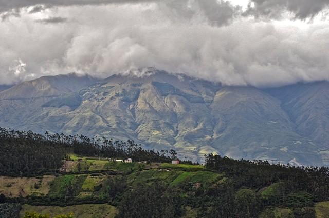 View, mountains, Otavalo, Ecuador