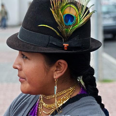 Costume, market, Otavalo, Ecuador