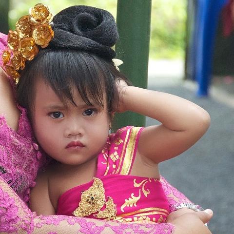 child at wedding in Bali