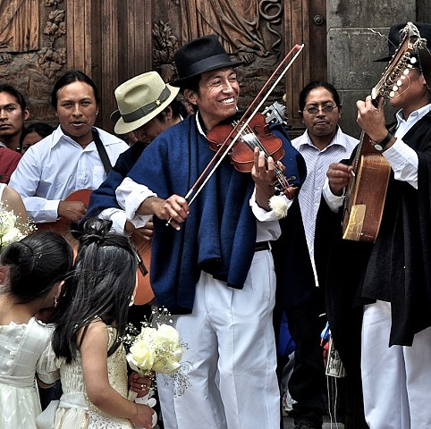 musicians, wedding in Otavalo, Ecuador