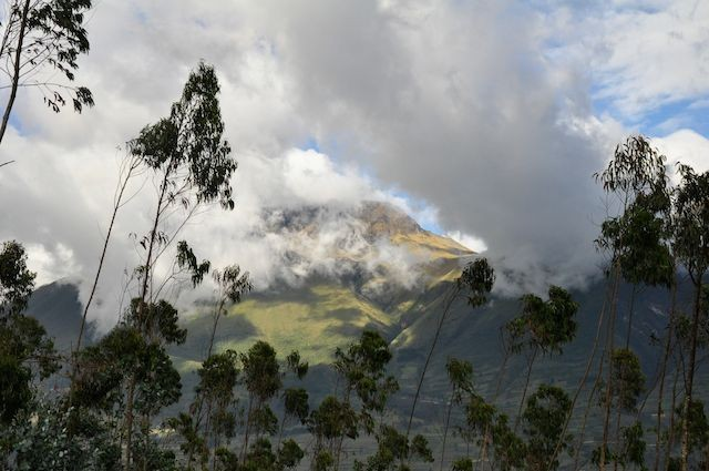 mountains, clouds, Otavalo, Ecuador