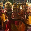 Young Dancers at a Temple Ceremony celebrating the Balinese New Year