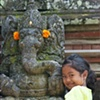 Girl with Ganesha