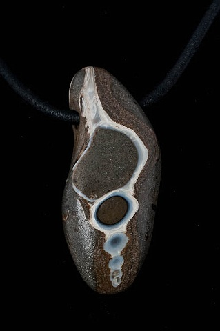 009  Fossil Necklace with Leather