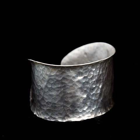 Sterling silver cuff textured