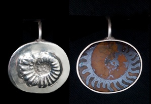 053 Sterling Ammonite Pendant