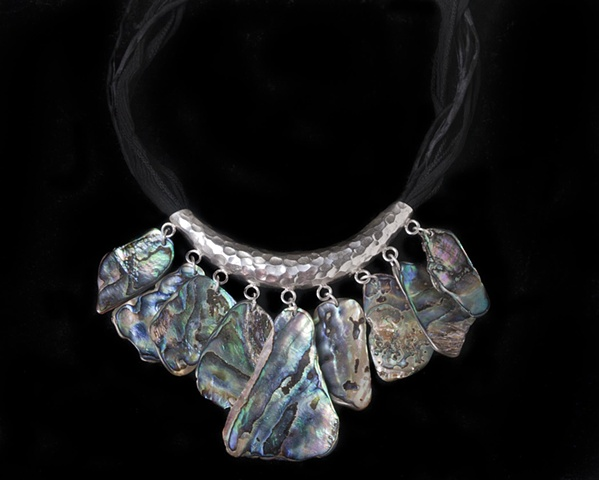 Sterling Abalone Shell Necklace