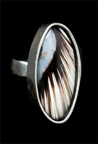049 Sterling Silver and Shell Ring