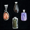 037 Dichroic Glass and Sterling Pendant