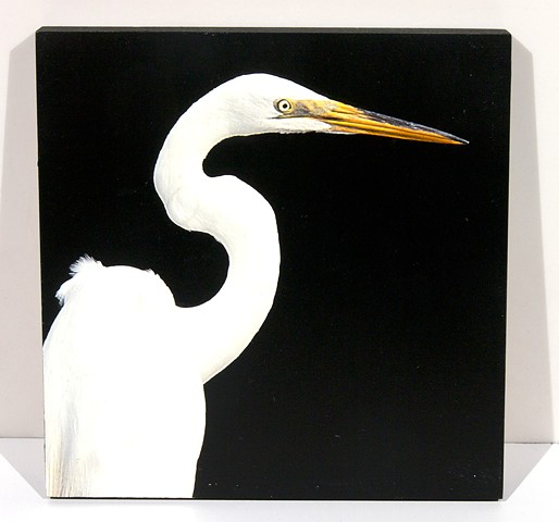 Bust of Egret in Profile