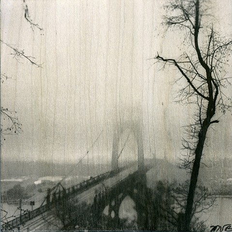 Fog over St Johns Bridge