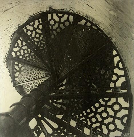 Spiral Stairs, Fisgard Lighthouse, Victoria, BC