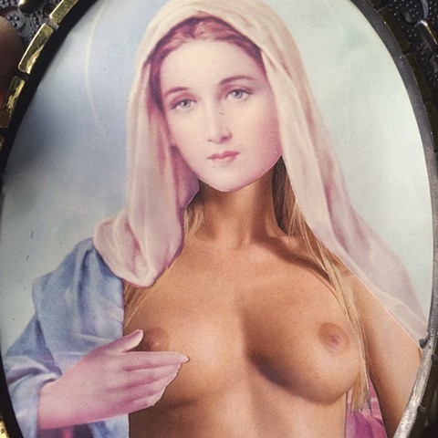 """jesus porn: mother mary and ho stuff"" cut & assembled magazine 2014"