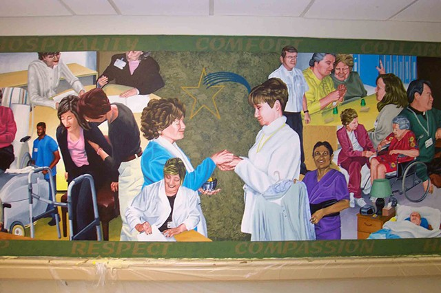 St. Joseph's Manor mural (detail)