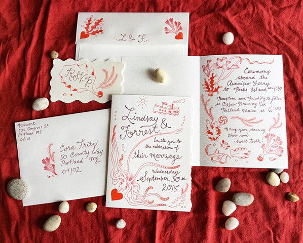 Wedding Invitations (for Field Floral Studios; published in Junebug Weddings)