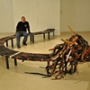 Bench made of 1000 belts