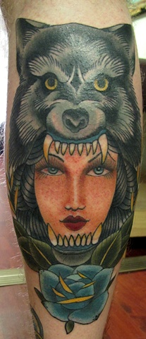 Wolf Girl by Heath Nock Tattoo Sydney
