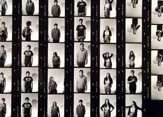"""Contact sheet for """"The Voice""""portrait series"""
