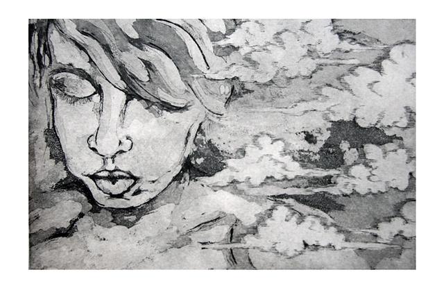 Auto Retrato 2: Aguafuerte-Aguatinta