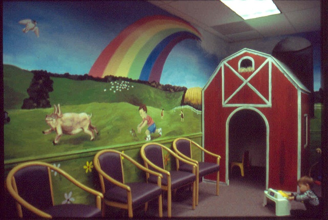 waiting room mural paint by the design deli