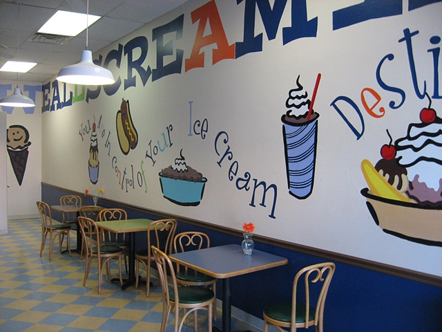 Serendipity Ice Cream parlor interior.