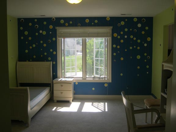 children's room hanging balls golden thread paint by the design deli