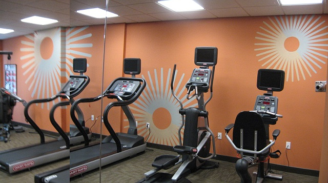 Nine North St Louis workout room.