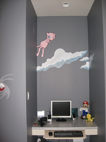 child's bedroom cartoon environment paint by the design deli
