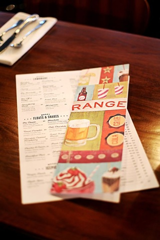 Range signage. Award winning graphic design by Katy Fischer of Toky Designs.
