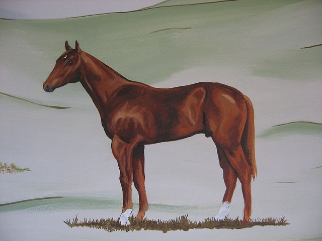 detail horse painting by the design deli