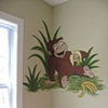 Curious George bedroom corner.