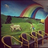 Doctor's office waiting room showing a farm landscape.