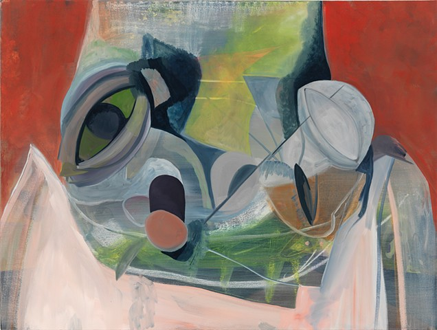 painting of abstract figure as modern still life by Michelle Wasson