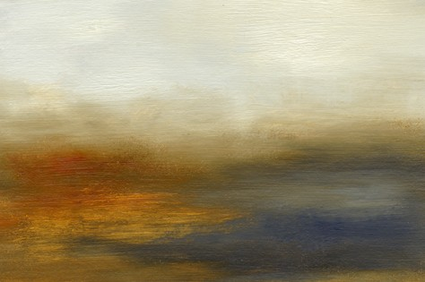 Landscape, abstract, intense, reds, gray blue, warm, gold