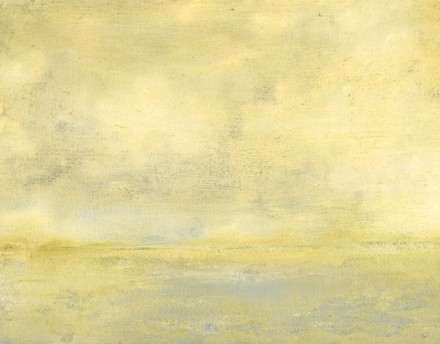 Water, abstract, soft yellows, clouds, light cool gray, tonal, peaceful