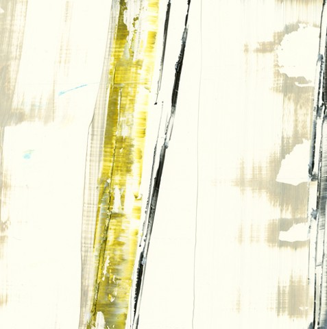 Abstract, white, acid green, linear, minimal
