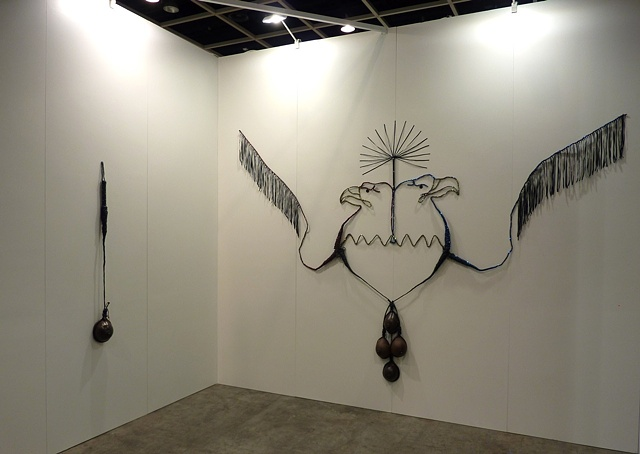 Installation view of P.O.W 2 and Heartland at Art Hong Kong.  Presented by Rossi and Rossi.