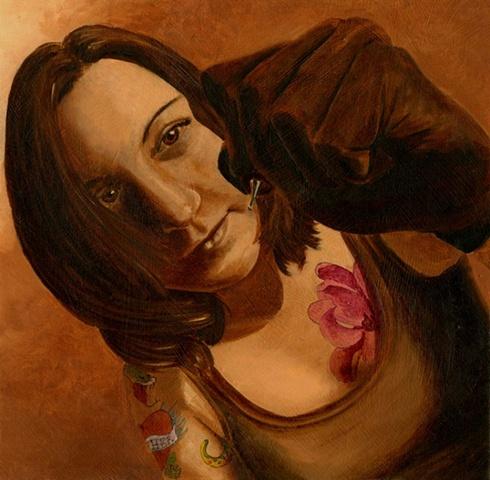 """Alter Ego"" (Self Portrait as a tattoo artist)"