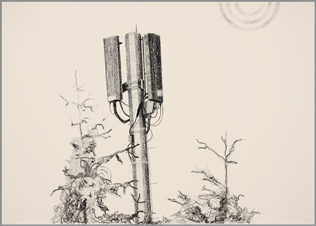 cell tower drawing cellphone