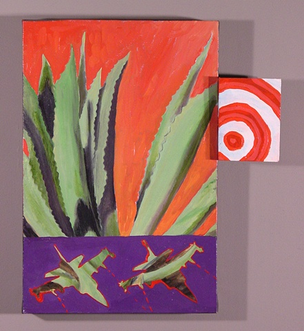 fighter jets and cactus agave