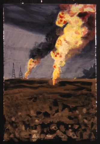 oil fields oil painting
