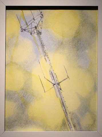 cell tower painting drawing water-color