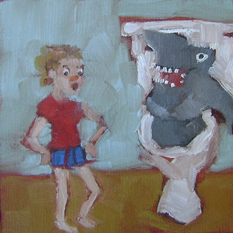 Illustration from 'There's a Shark in the Toilet'