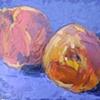 Peaches on Purple