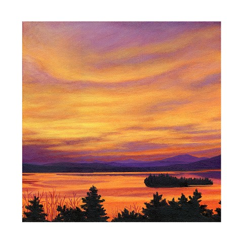 archival art print Rangeley Lake November