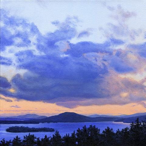 Rangeley lake august print