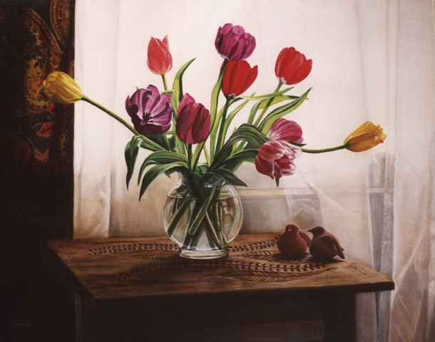 Clay Birds and Tulips