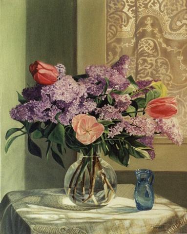 Still life with Three Tulips - Study II