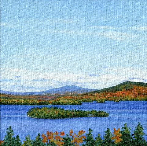 archival art print Rangeley Lake October #2