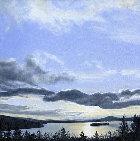 Rangeley Lake March print